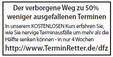 Format der zweiten Printanzeige für TerminRetter