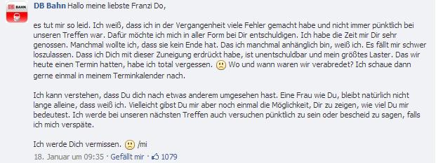 Erste Antwort der Deutschen Bahn